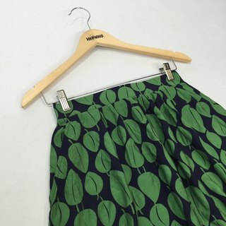 (Off-the-shelf) - Chicken Mother Dock - Blue Green Leaf Cozy Spring Umbrella Skirt F Size