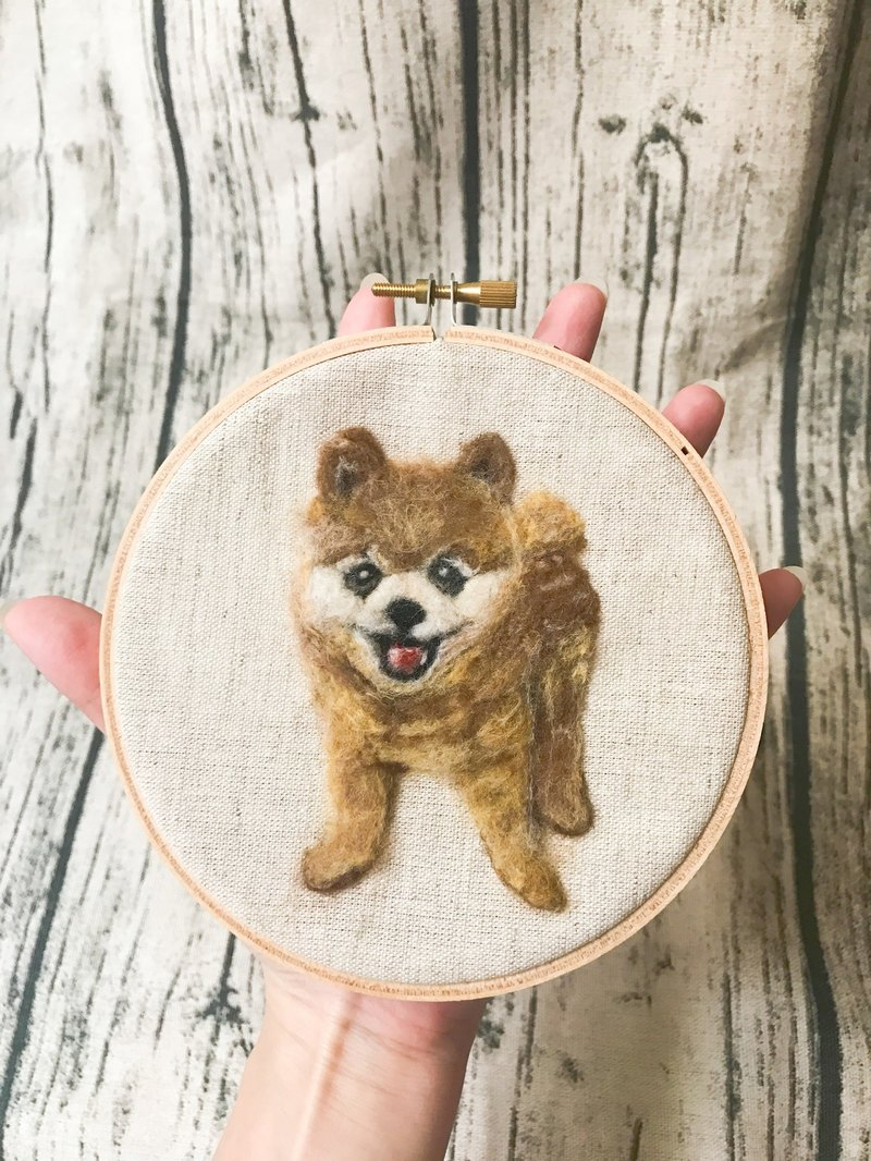 |Wool felt embroidery|PET|100% wool|customized|5吋