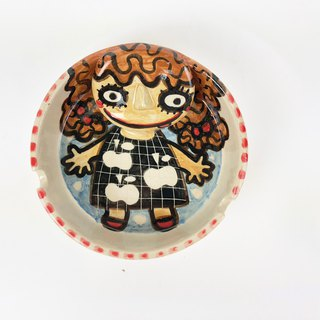 Nice Little Clay handmade three-dimensional ashtray curly girl 0308-14