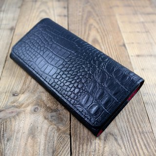 APEE leather handmade ~ mobile phone holster ~ horizontal magnetic clasp clavicle ~ Crocodile skin black ~ Sony XZ Premium