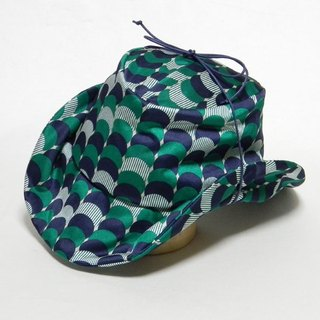 Retro print ten-gallon hat - Green (PS0395-Green)