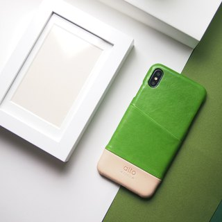 Alto iPhone Xs Max Metro Leather Case – Lime/Original