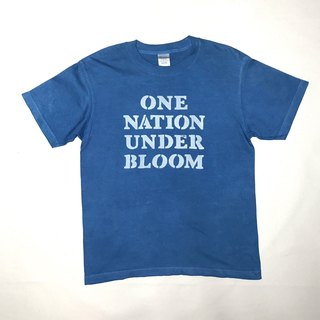 【受注製作】Indigo dyed 藍染 - ONE NATION UNDER BLOOM TEE