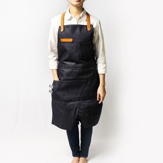 Deformable dual-use work apron (B3+C1) Full-length body wear (Dening Blue)