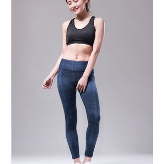 Aurora stretch tight yoga pants / denim dark blue