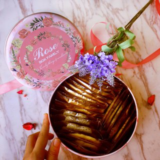 [Tower fruit] gentle flower language - handmade cookies / cookie iron box (gift / wedding cake / with hand gift box)