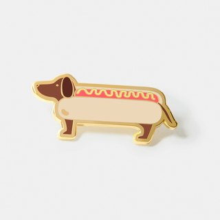 Literally a Hotdog' Lapel Hat Pin