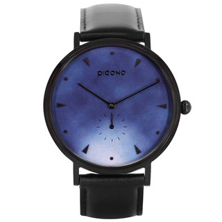 【PICONO】A week collection black leather strap watch / AW-7601