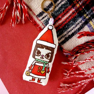 The United States and the United States cat Christmas ornaments doll cotton cushion Hand-made hand-made keychain