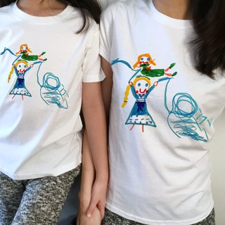 Tusuo guest parent-child graffiti T children's graffiti printed clothes and parents to install their own design pattern T
