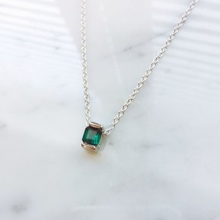 *ONLY ONE*Sinking Blue:: Sterling Silver Lake Blue Green Tourmaline Sterling Silver Necklace