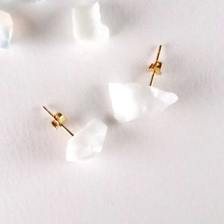 STAR STONE stud earrings - WHITE