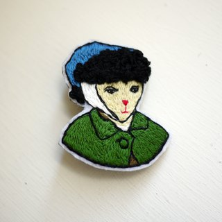 Loving Vincent - Van Gogh hand-embroidery brooch