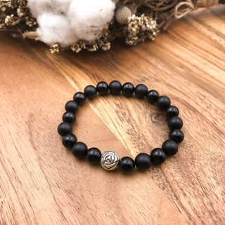 BlackRose black agate bright plus matte | natural stone bracelet