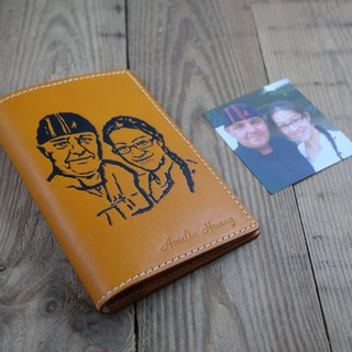 APEE leather manual ~ extension image passport holder ~ Ming Huang