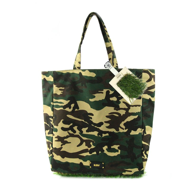 Camouflage grass Pi Tuote luggage bag + hastily listed (Kit)