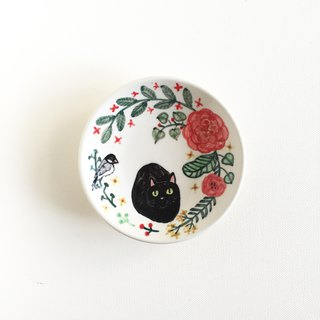 Hand-painted porcelain plates - Wenman and Black Cat