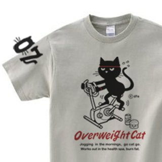 Fitness bike and cat 150.160. S-XL T-shirt 【Custom order】