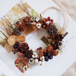 To be continued | fruit dried flowers wreath shooting props wall decoration gifts gifts wedding arrangements office small objects home exchange gifts Christmas Spot