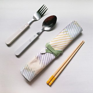 Hairmo color line eco-friendly chopsticks set / cutlery bag / pencil case
