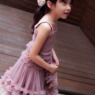 2016 Frilly Set: A re-styled petticoat tutu skirt with adjustable waist and matching top with many frills and ruffles made from the softest chiffon of the highest quality chiffon suit