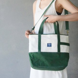 Japanese classic big tote bag _ dark green