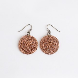 Lameless motif earrings L (bronze) P0021