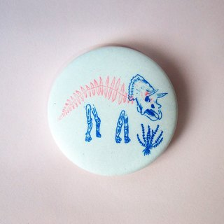 Triangle Risograph Printed Badge (New)