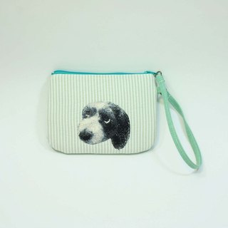 Hand-embroidered purse dog 03-
