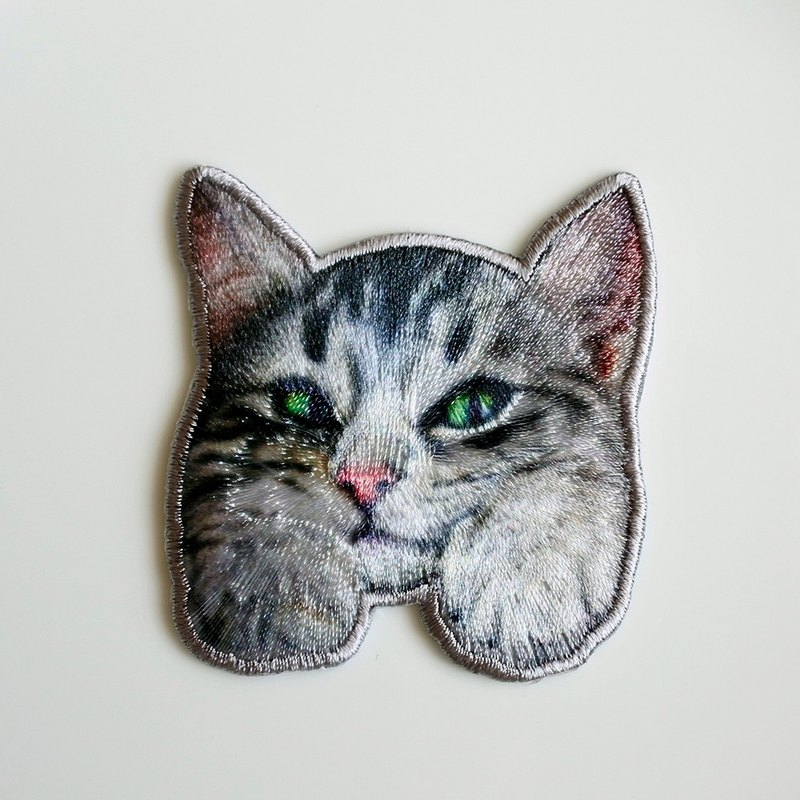 Photo Cat Embroidery Film-M (Ironing required)