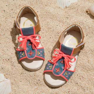 Nancy Embroidered Bow Fringe Sandals