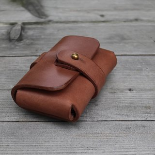 <隆鞄工坊>Denim gentleman series (brown)-business card holder/card holder/business card storage/large space