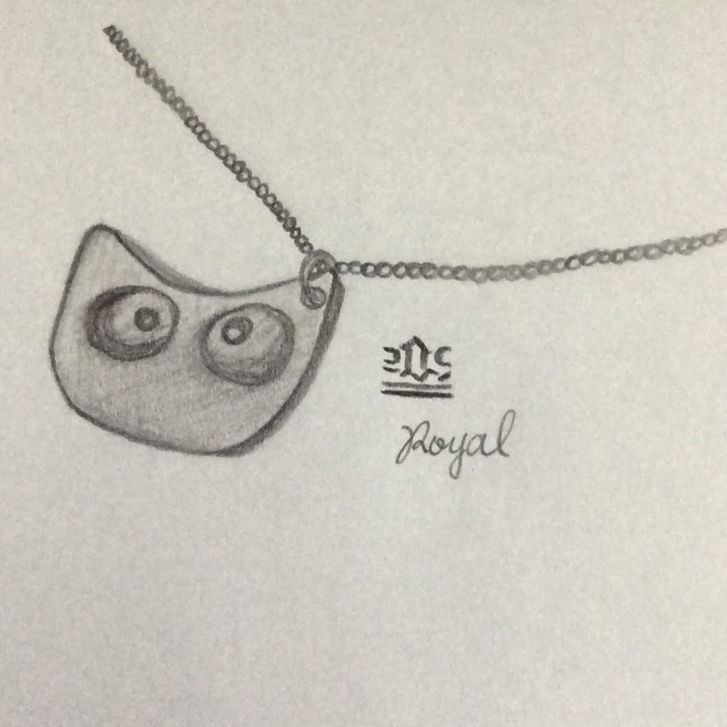 V11 - can not do the same silver necklace - big-eyed cat shape. 925 sterling silver necklace - royal smith