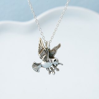 My Sweetie hand-made sterling silver necklace / dove / handmade silver necklace peace dove
