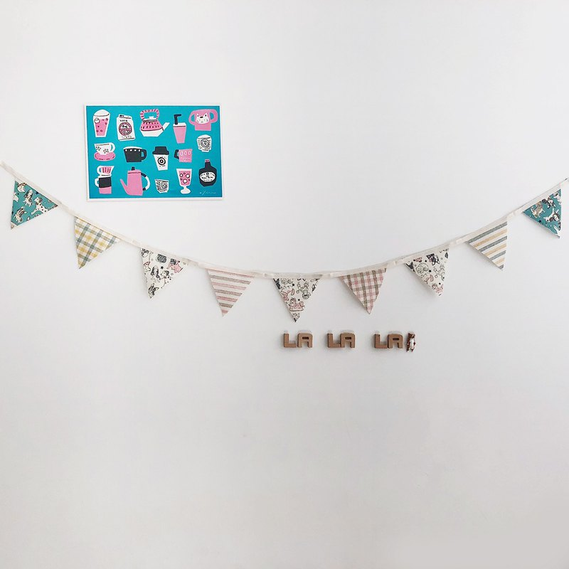【La la la】 Good Wang Hao Wang Pennant / limited hand / life style / small objects