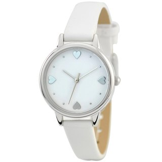 Mother's Day Gift Elegance Watch with Heart index White Free Shipping