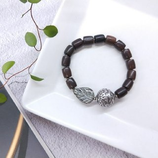 [The only product] lobular rosewood*sterling silver*marble leaf hand string