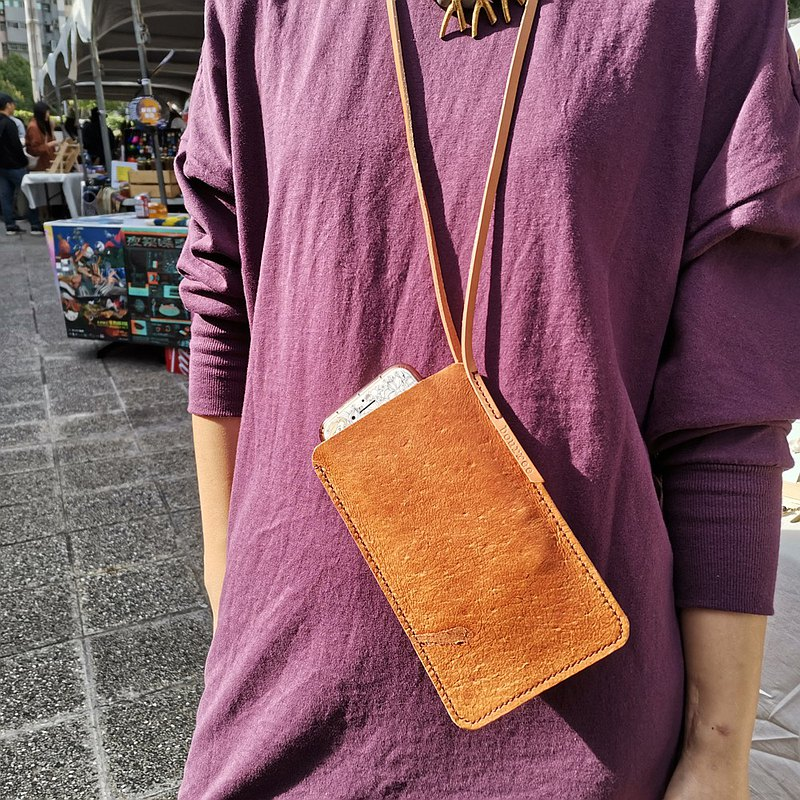 Hand-held mobile phone bag hanging neck