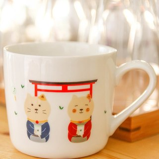 No Japanese small fresh wood large capacity breakfast cup coffee cup ceramic mug