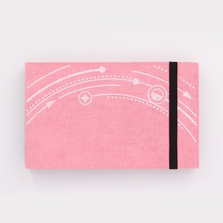 Three summer sea stars planet light-years trajectory straps books section DIY album creative gifts small rectangular (pink cloth)