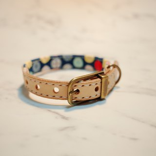 Dog Collars. S size, blue button_DCJ090403