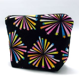 Large flat bottom zipper pouch /cosmetic bag (padded) (ZL-39)