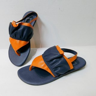 Painter #8049|| Wax-Clip Flop Sandals Your Swing Blue Purple California Orange ||