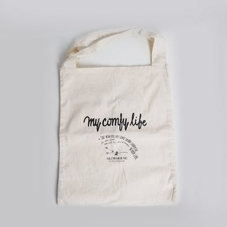 Cotton Cotton double cell layer is attached sandwich design Tote / shoulder bag