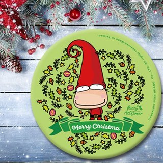 Painted Absorbent Ceramic Coasters – Christmas dwarf