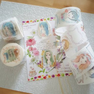 Twelve constellation girls and paper tape (with release paper) come with a constellation girl pack