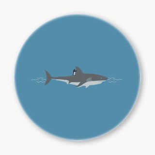 Snupped Ceramic Coaster - Shark Surfing