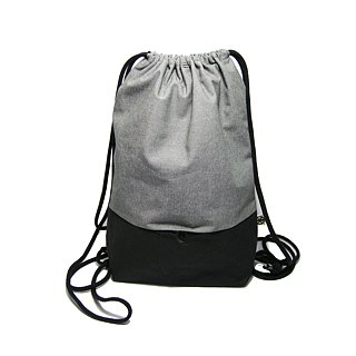 ● double-color double beam backpack (canvas) __ for zuo zuo hand bag
