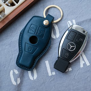 Car key holster handmade buttero benz Benz English branding key ring