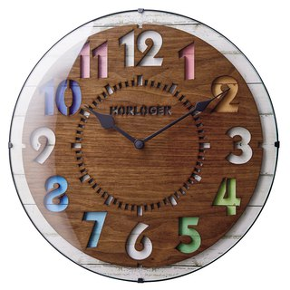 Forli- color layer mute clock wall clock (brown)